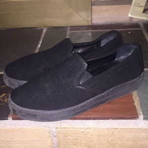 Prada Slip On Sneakers Size 37.5/7.5 Black